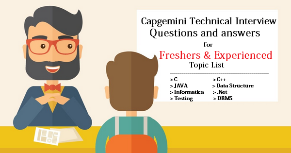 Capgemini Technical Interview Questions and Answers