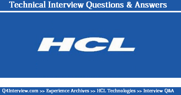 HCL Networking Interview Questions HCL Interview Questions