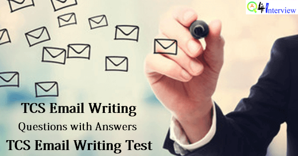 Email writing for tcs company